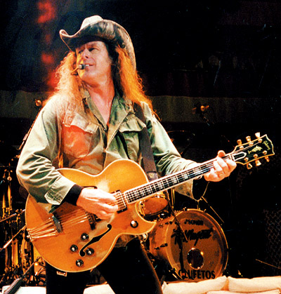 Ted Nugent live in 2013 with his 1962 Gibson Byrdland Photo: Willie G. Moeley