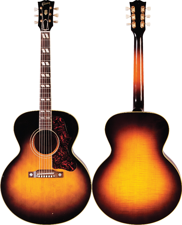 the gibson j 185 vintage guitar magazine. Black Bedroom Furniture Sets. Home Design Ideas