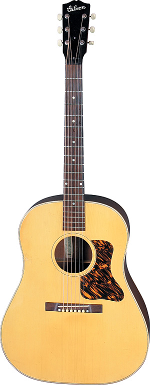 Gibson Blond j-35 Photo: Kelsey Vaughn, courtesy George Gruhn. Vintage Guitar magazine