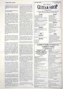 Greg Lake Vintage Guitar magazine May 1994 Page 2