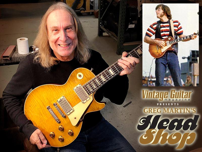 Greg Martin John Sebastian's '59 Gibson Les Paul Standard Vintage Guitar magazine Header