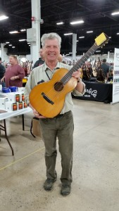 Great American Guitar Show promoter Gary Burnette at the Fall Philly Guitar Show.
