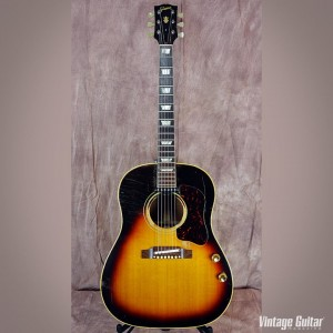 The 1963 Gibson J-160 E that VG's Gil Hembree brought to the show!