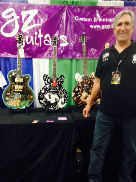 Glen Gertz shows off a few of his painted beauties.