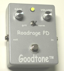 GOODTONE ROAD RAGEThe best pedal of 2012! Finally, a great clean boost that is incredibly transparent. A great option for gigging guitarists who want a boost for solos but that maintains the inherent dynamics of any instrument. (Guerra)