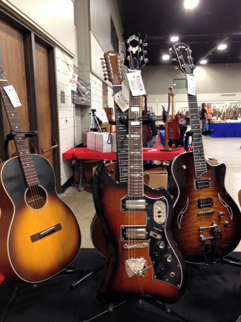 A new Guild Thunderbird the Guitarlington Guitar Show in, Arlington TX. — withGuild Guitars.