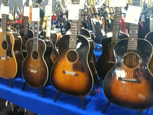 Gathering of vintage Gibsons