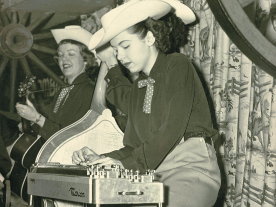 Hall in 1952, playing in Alaska during her first stint in a band.