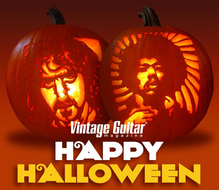 Vintage guitar magazine Halloween Pumpkins Frank Zappa Jimmy Hendrix