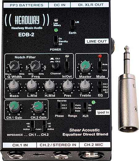 Headway EDB-2 Equalizer Direct Blend Preamp