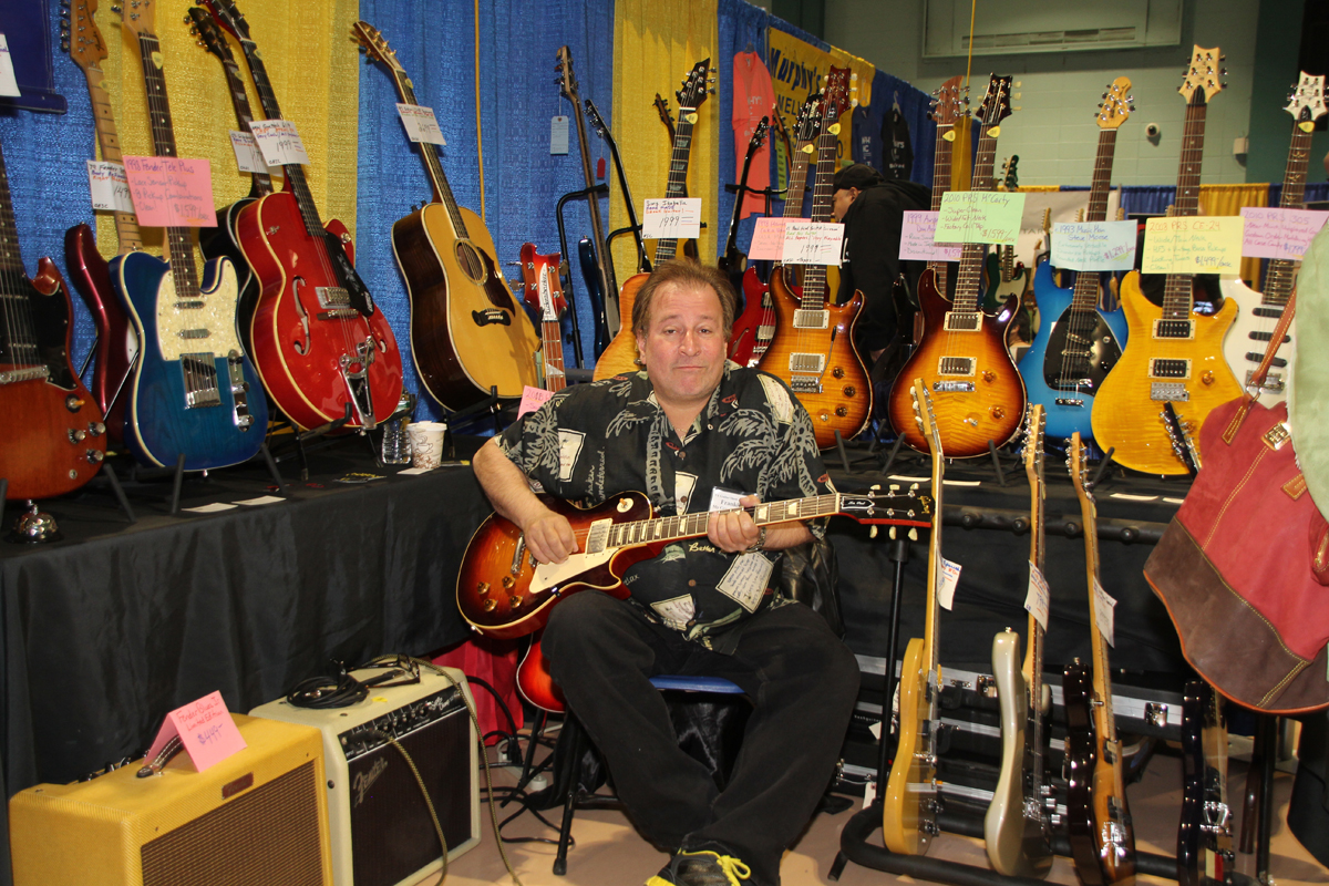 "Frank Beatrice (Frankie ""B"") in the My Generation booth at the NY Guitar Show."