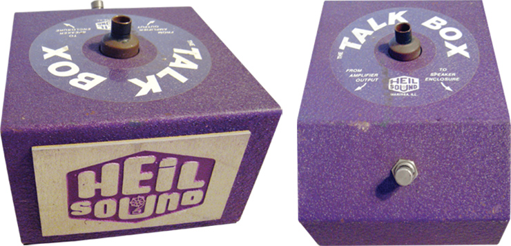 After the original run of 50 fiberglass-bodied Talk Boxes, Heil switched to this metal-boxed second version.