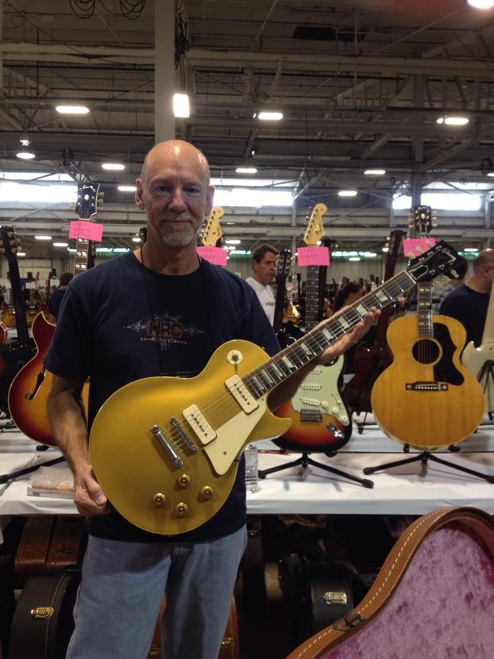 Hank from Hank's Vintage Guitars with a '55 goldtop.