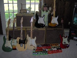Abbey w/1958 and 1961 Strat, Tyler, Victoria, Masterbuilt Relics, etc!