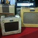 A set of Fender amps in tweed.