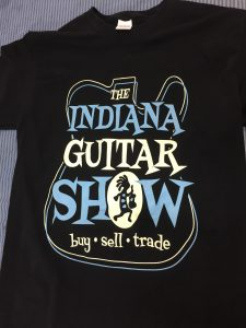 Indiana Guitar Show shirt.