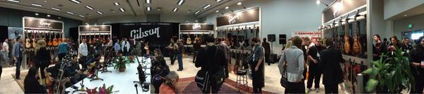 Inside the Gibson booth.
