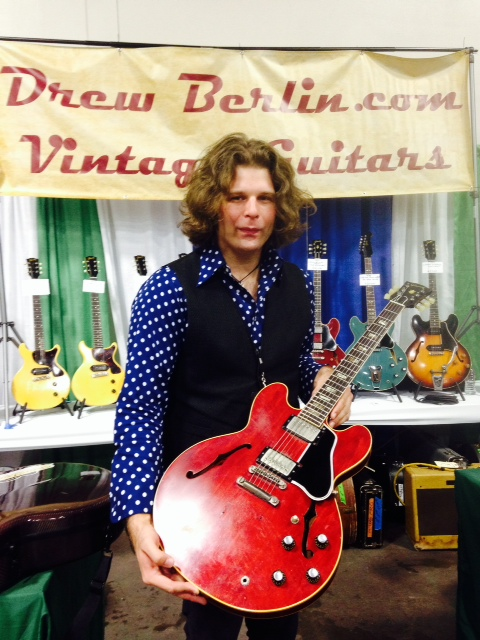 J.D. Simo and his '62 ES-335 getting ready to play the main stage.