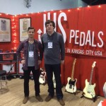 Steve and Josh in the JHS Pedals booth.