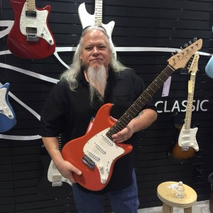 Nothing says #NAMM2016 like the legendary John Page holding a John Page Classic Ashburn.