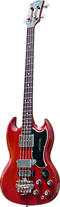 A 1962 Gibson EB-3 bass that was once owned by Jack Bruce. Photo courtesy Abalone Vintage.