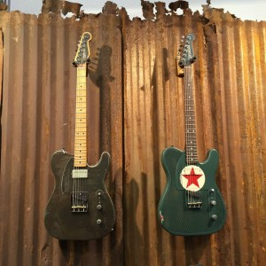 The Rust O Matic and Red Star Steelcasters from James Trussart Custom Guitars would be fine additions to any #guitar collection! #vintageguitar #steelcaster #jamestrussart #guitars #NAMM2015 — in Anaheim, California.