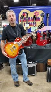 John DeSilva / My Generation Guitars holding a G&L Comanche.