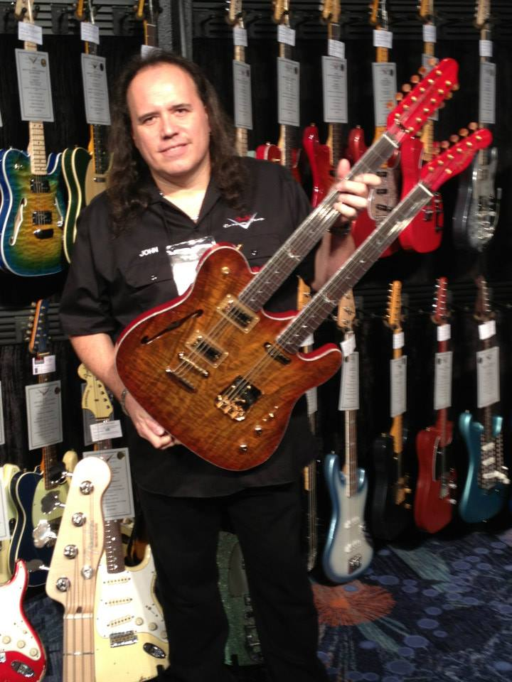 John Cruz, from Fender Guitar's Custom Shop, with one of his creations.