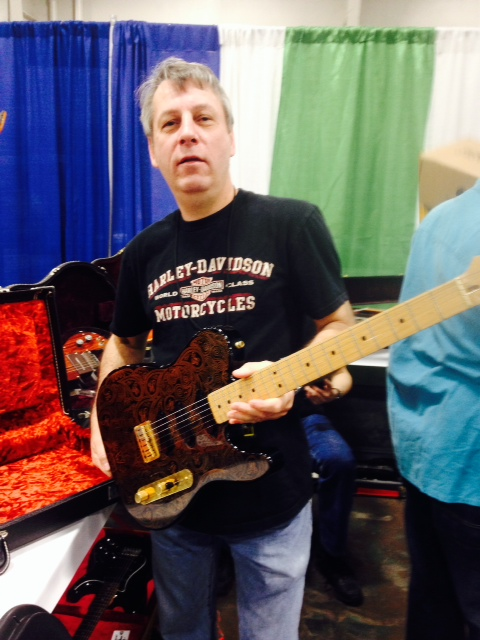 John DeSilva of My Generation Guitars with a 1991 Fender Artist Series James Burton Telecaster.