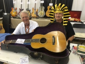 John Southern and King Tut (guess who's who) with a 1927 Martin 00-42.
