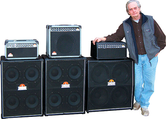 Kager with some Sundown amps. Photos courtesy of Dennis Kager.