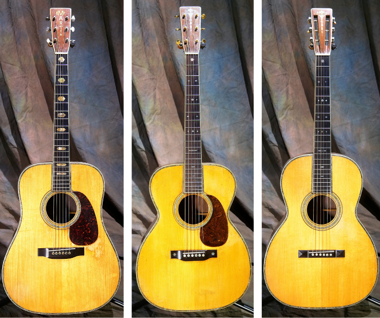 "Kellerman's ""set"" of Martin 45 models includes a 1940 D,  '31, OM '28 OOO."