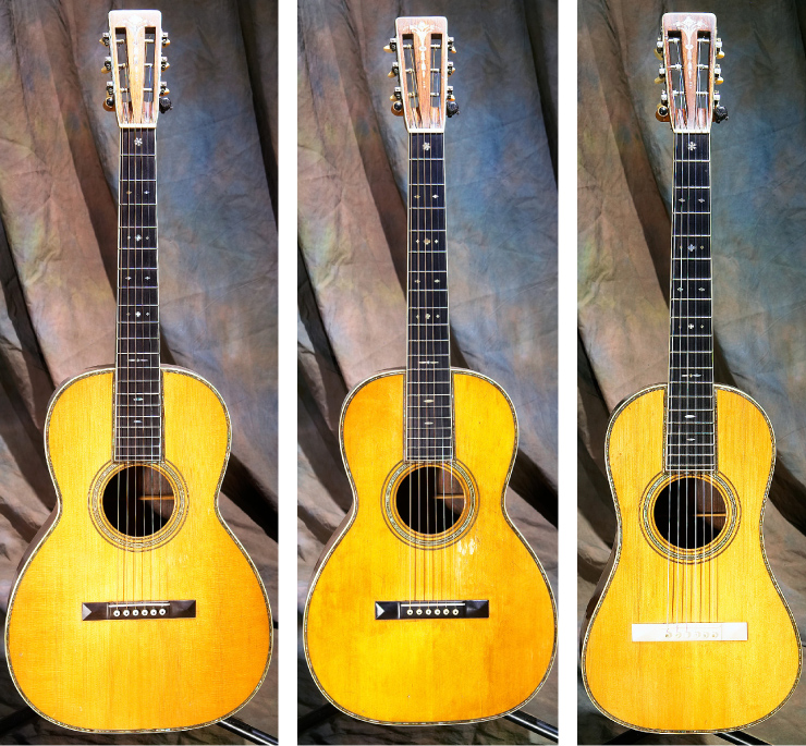 "Kellerman's ""set"" of Martin 45 models also includes '27 OO, a '27 O, and a 1919 ""baby Ditson"" model 1 with ivory bridge."