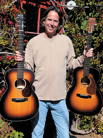 Kenny Sultan with a Martin 000-18KS signature model (left) and the '36 Martin 000-18 that served as the basis for it.