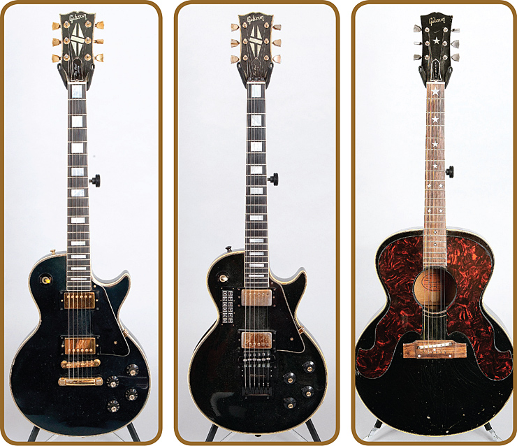 Tom Keifer 1978 Gibson Les Paul Custom 1969 Gibson Les Paul Custom Performance Tuning System 1964 Gibson Everly Brothers