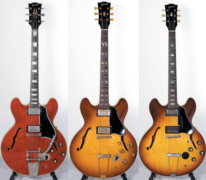 1960 Gibson ES-355 TD 1965 Gibson ES-345 TD 1965 Gibson ES-335 Stereo