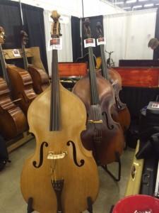 Three beautiful old Kay basses.
