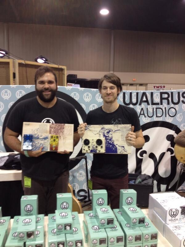 Kelly Arndt and Brady Smith of Walrus Audio.