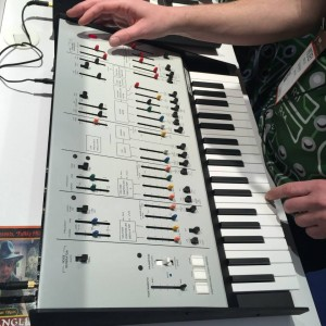 The KORG ARP Odyssey is a recreation of the legendary duophonic synthesizer at 86% scale. It's really pushing our buttons! #NAMM2015 #vintageguitar #KORG #synthesizer — in Anaheim, California.