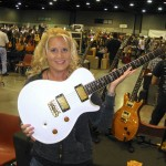 Show attendee Lisa Lane was struck by this Private Stock PRS Singlecut.