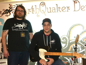 L-R Ben Vehorn and David Whited of EarthQuaker Devices.