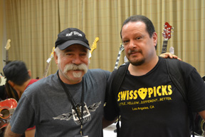 L-R Pedal Expo organizer Loni Spector and Pete Punckowski of Swiss Picks.