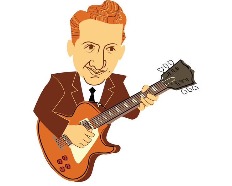 Les Paul Vintage guitar magazine illustration