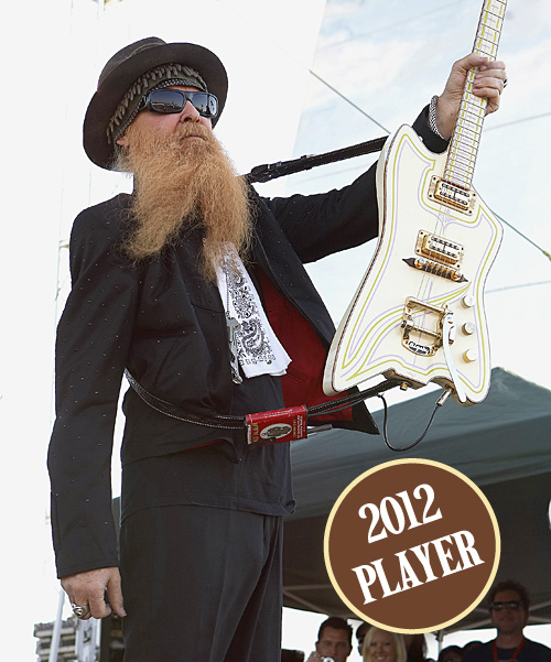 Billy Gibbons Vintage Guitar magazine Hall of Fame 2012 player