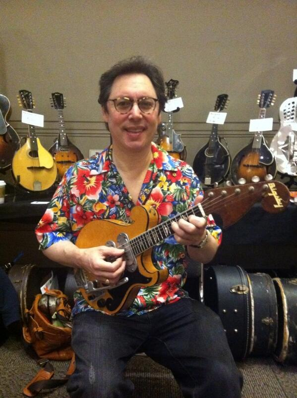 Larry Wexer and his '53 Bigsby 5-string electric mandolin.