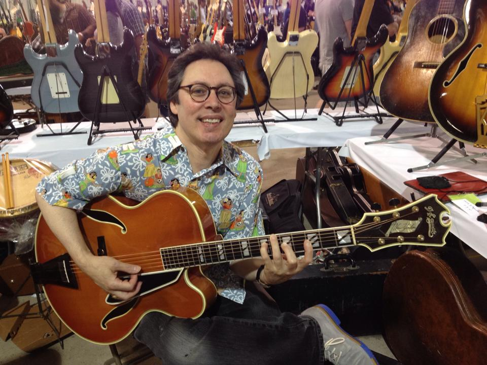 Laurence Wexer with a '79 D'Aquisto New Yorker.