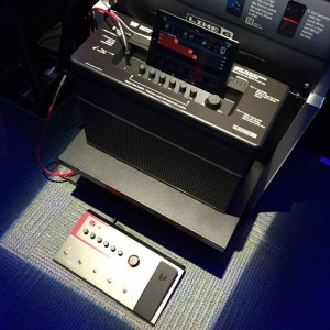 Now wirelessly control your #guitar rig and match tone instantly with the new Line 6 AMPLIFi! #vintageguitar #NAMM2015 #Line6 #AMPLIFi #NAMM15 #NAMMshow — in Anaheim, California.
