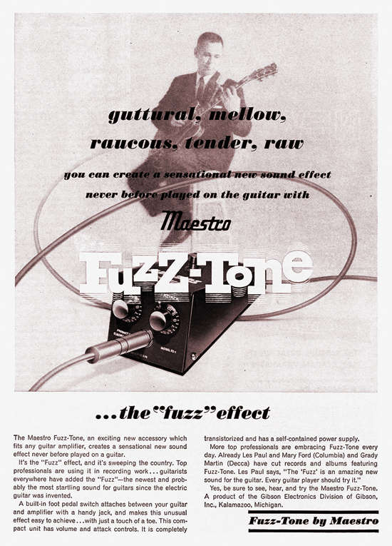 A 1962 ad for the Fuzz-Tone.