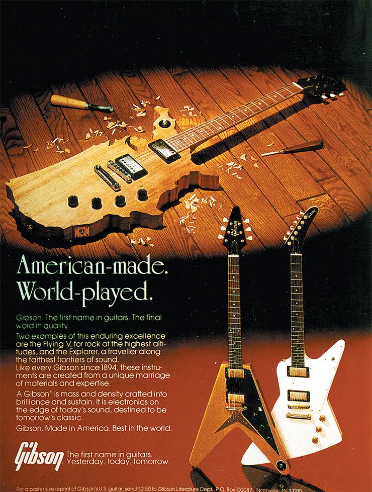 1982 Epiphone U.S. Map