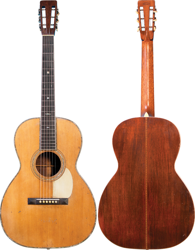 This 1921 Martin 000-42 bearing serial number 15947 projects with excellent volume. It's very responsive and renders beautiful tone – prime for fingerpicking.